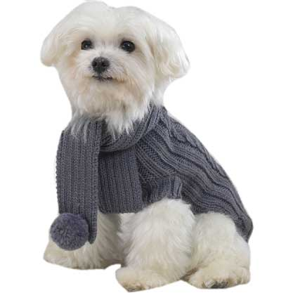Cable-knit Dog Sweaters